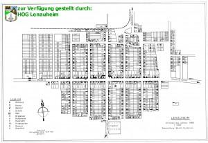 Ortsplan von Lenauheim (1990)