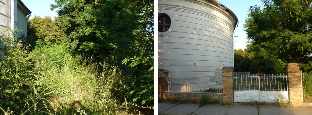 Kirchenhof (vor und nach der Reinigung)