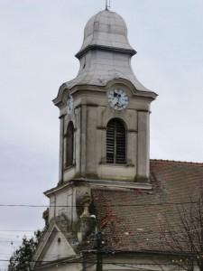 Der Lenauheimer Kirchenturm