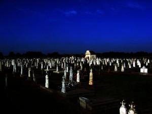 Ein Blick über den Friedhof