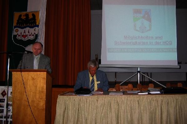 Bei der HOG-Tagung in Frankenthal 2005