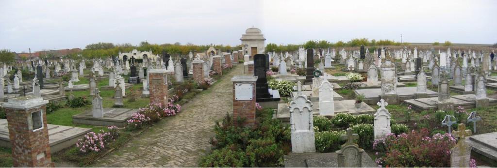 Blick über den Lenauheimer Friedhof