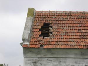 Schäden nach dem Sturm am Totenwagenschuppen 2004