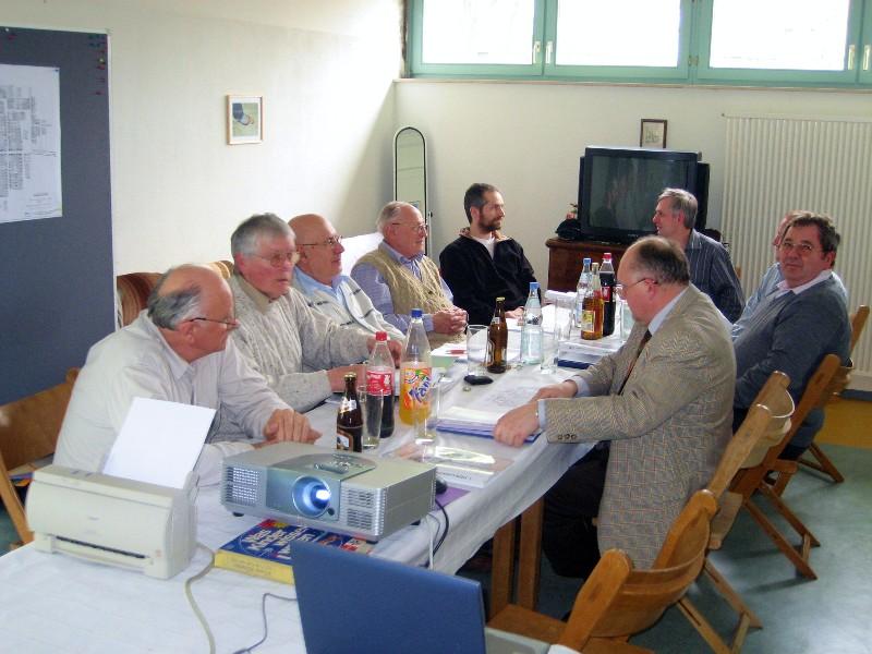 Bei der Vorstandssitzung 2008